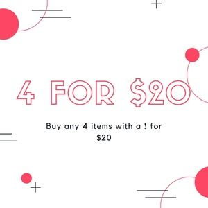 ❗️4 ITEMS FOR $20